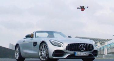 Μπορεί ένα drone να είναι πιο γρήγορο από τη Mercedes-AMG GT Roadster; (video)