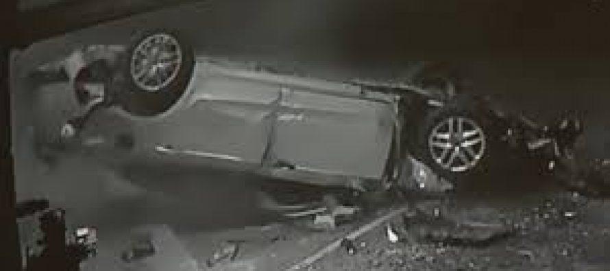 Αυτοκίνητο αναποδογύρισε και μπήκε σε εστιατόριο (video)