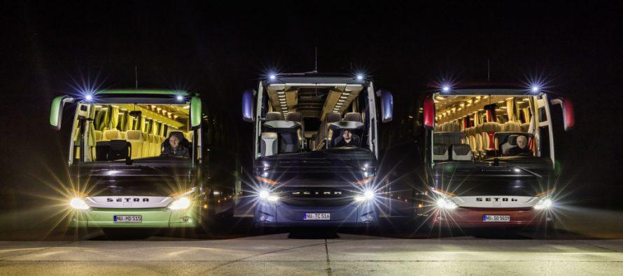 Τα λεωφορεία της Mercedes «βλέπουν» πολύ καλά τα βράδια