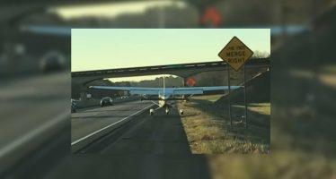 Αναγκαστική προσγείωση αεροσκάφους σε αυτοκινητόδρομο (video)