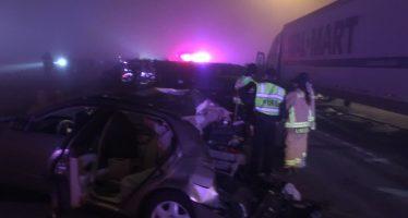 Καραμπόλα τριάντα αυτοκινήτων λόγω ομίχλης (video)