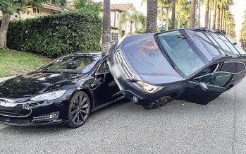 Η πιο περίεργη «στάση» αυτοκινήτων από Subaru Outback και Tesla Model S