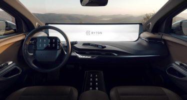 Με οθόνη αφής μέχρι και στο τιμόνι το νέο Byton M-Byte