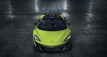 Δυνατό το άγγιγμα του ανέμου μέσα στη νέα McLaren 600LT Spider (video)