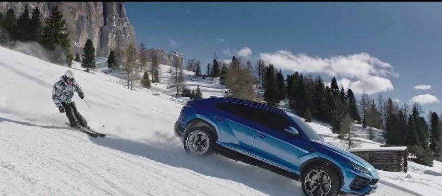 Kόντρα ανάμεσα στη Lamborghini Urus και έναν Ολυμπιονίκη σκιέρ (video)