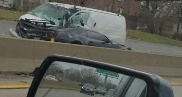 Οδηγούσε ανάποδα στον αυτοκινητόδρομο και τράκαρε (video)