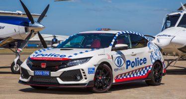 Το περιπολικό Honda Civic Type R θα κάνει δημόσιες σχέσεις για την αστυνομία