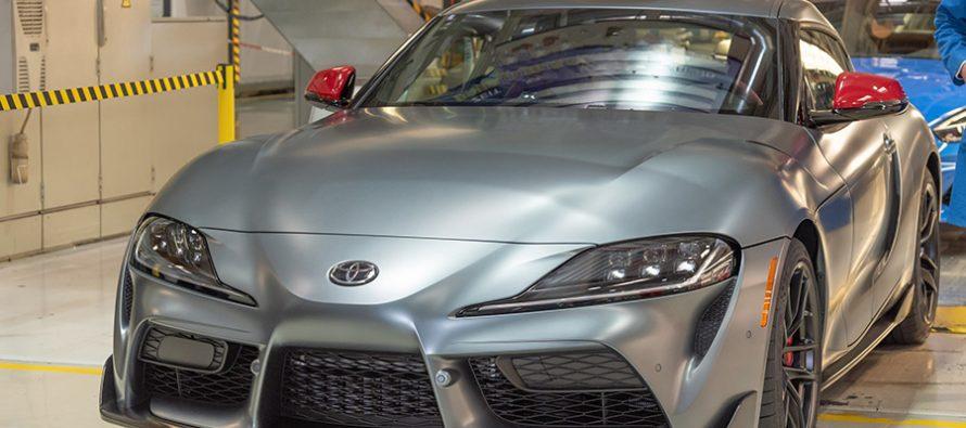 H πρώτη Toyota Supra κατασκευάστηκε και έχει προπωληθεί