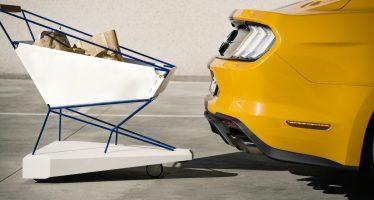 Καρότσι σουπερμάρκετ της Ford που φρενάρει μόνο του (video)