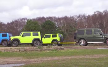 Πόσα Suzuki Jimny χρειάζονται για να μετακινήσουν τη Mercedes AMG G63; (video)