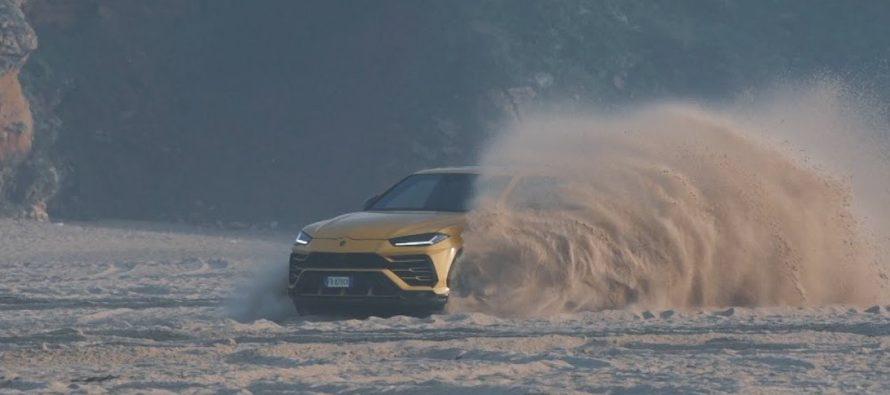 Η Lamborghini Urus κάνει σερφ στην άμμο της παραλίας (video)