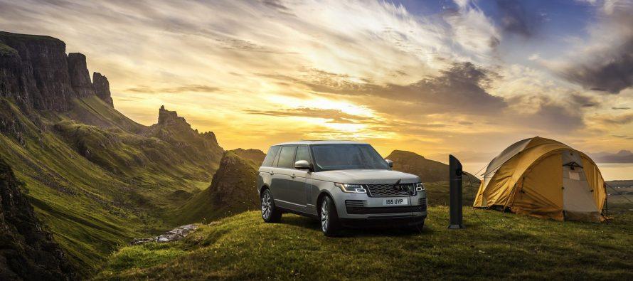 Σταθμός φόρτισης πάνω στο βουνό από τη Land Rover