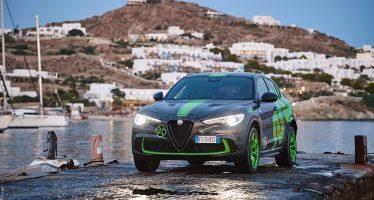 Μια ξεχωριστή Alfa Romeo Stelvio Quadrifoglio στη Μύκονο