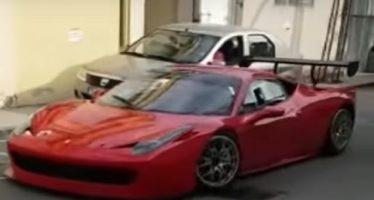 Χωρίς πόρτα έμεινε μια Ferrari 458 Italia (video)