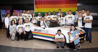Ένα Fiat 124 Spider στο Pride 2019