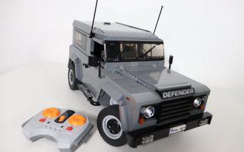 Τηλεκατευθυνόμενη μινιατούρα Lego του Land Rover Defender (video)