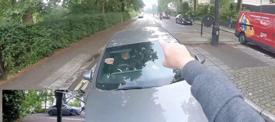 Ποδηλάτης συνέλαβε τον οδηγό μιας Mercedes που παρανόμησε (video)