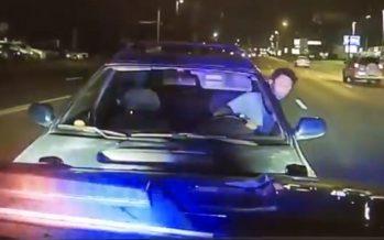 Μεθυσμένος οδηγός έπεσε πάνω σε περιπολικό (video)