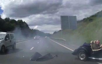 Οπίσθια πρόσκρουση ενός Morgan σε Audi με 112 χλμ./ώρα (video)