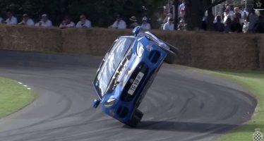 Στους δυο τροχούς ισορρόπησε η Jaguar F-Type (video)