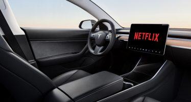 Oι επιβάτες των Tesla θα βλέπουν YouTube και Netflix