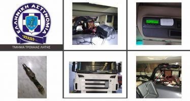 H Τροχαία τσάκωσε 47 φορτηγά με «πειραγμένο» ταχογράφο