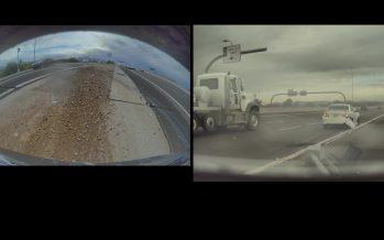 Ένα Toyota Corolla καρφώθηκε πίσω από Tesla (video)