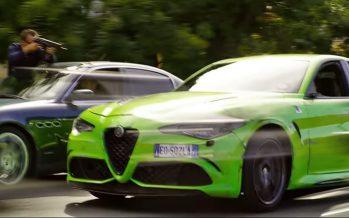 Καταδίωξη μιας Alfa Romeo Giulia που φωσφορίζει (video)