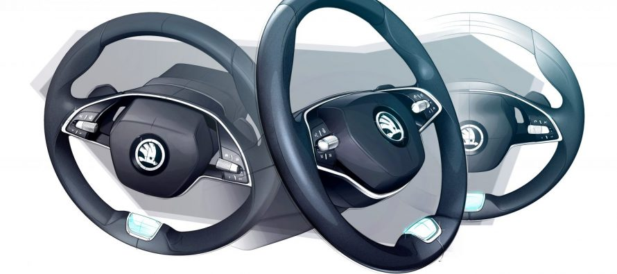 Δυο ακτίνες θα έχει το τιμόνι της νέας Skoda Octavia