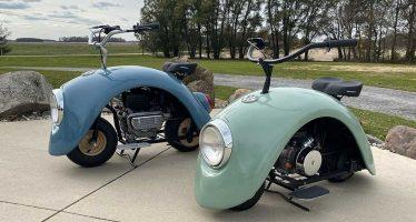 Έφτιαξε μοτοσυκλέτες με τα φτερά του Volkswagen Beetle!