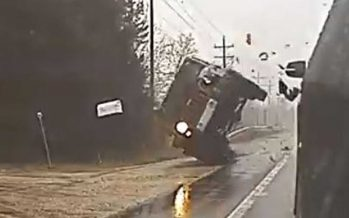 Δείτε πως κατέληξε στο χαντάκι αυτό το Jeep Wrangler (video)