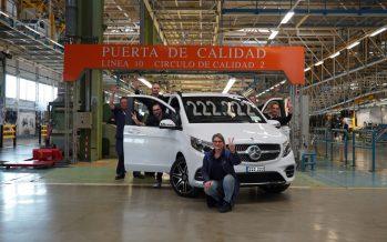 Η Mercedes κατασκεύασε 222.222 V-Class