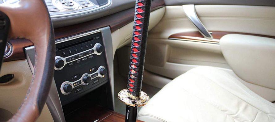 Σπαθί Σαμουράι αντί για λεβιέ ταχυτήτων