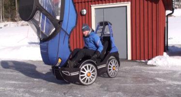 Ηλεκτρικό ποδήλατο με μορφή αυτοκινήτου (video)