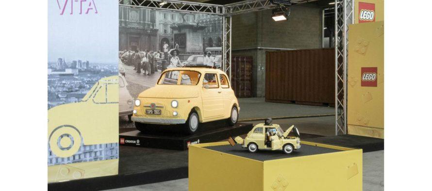 Fiat 500 φτιαγμένο από χιλιάδες τουβλάκια Lego