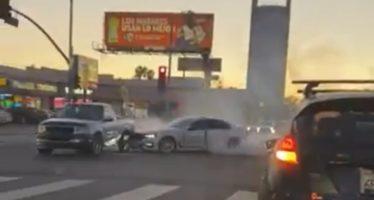 Μια ΒΜW «ξυλοφόρτωσε» άγρια ένα Ford (video)