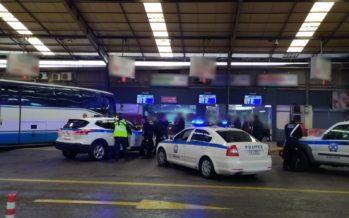 Απαγόρευση άσκοπων μετακινήσεων: Έλεγχοι της αστυνομίας στα ΚΤΕΛ (video)