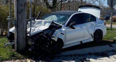 BMW M5 πάει για πέταμα λίγο μετά την αγορά της (video)