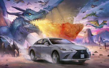 Μοντέλα της Lexus έγιναν κόμικς