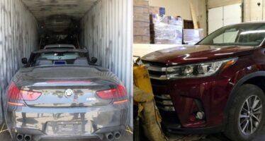 Δεκάδες κλεμμένα αυτοκίνητα βρέθηκαν μέσα σε κοντέινερ