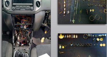 Βρέθηκαν κλεμμένα κοσμήματα σε κρύπτη αυτοκινήτου