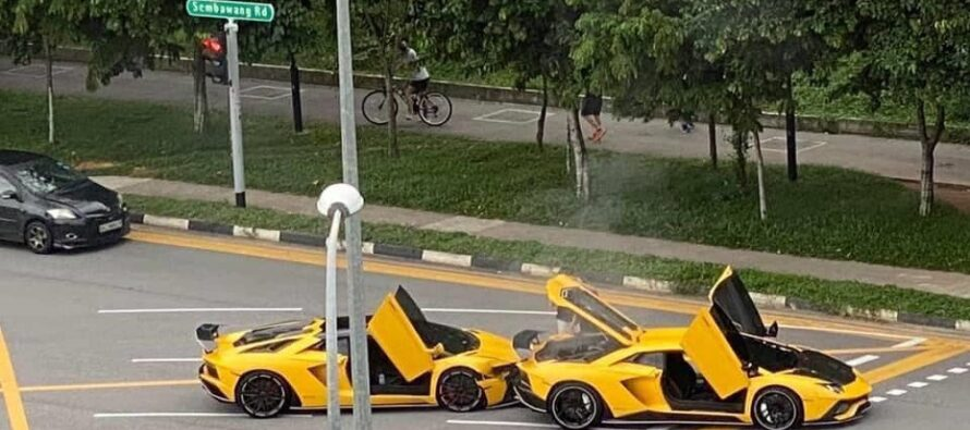 Τράκαραν μεταξύ τους δυο ολόιδιες Lamborghini! (video)
