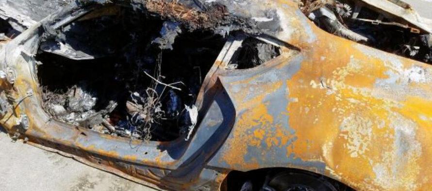 Πωλείται μια εντελώς καμένη Toyota Supra