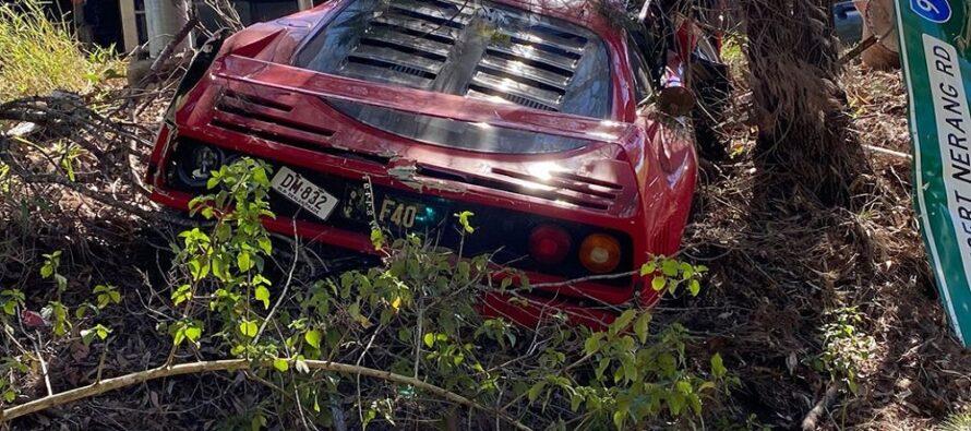 Διέλυσε μια σπάνια και δανεική Ferrari F40