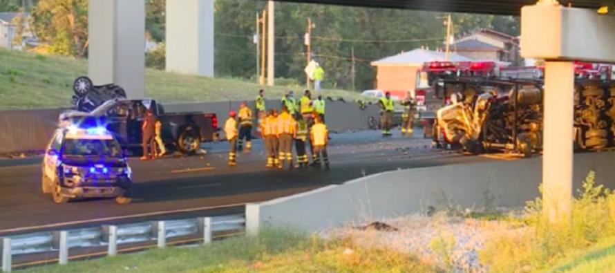 Φορτηγό έπεσε από ύψος 7,5 μέτρων-νεκρός ο οδηγός (video)