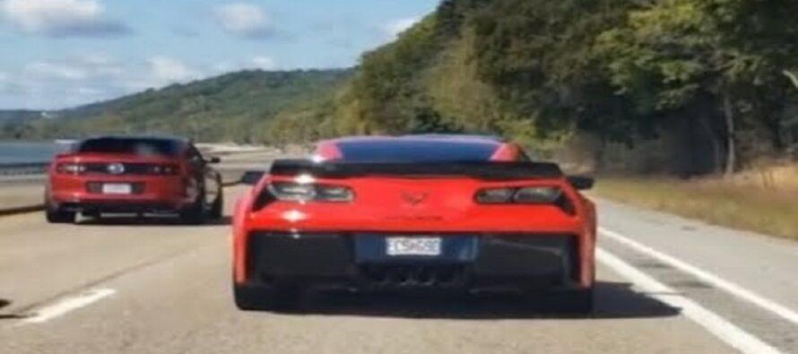 Κόντρα ανάμεσα σε Ford Mustang και Corvette Z06 δεν είχε αίσιο τέλος (video)
