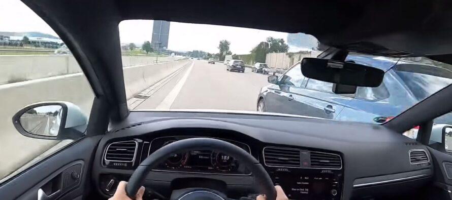 Volkswagen Golf GTΙ τρακάρει με 230 χλμ./ώρα (video)