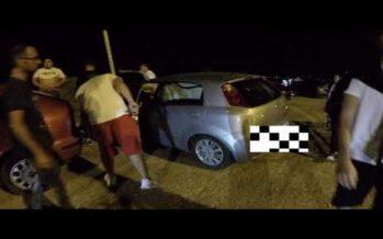 Fiat Grande Punto παρασύρει Ford Fiesta και μοτοσυκλέτα στα Λιμανάκια (video)