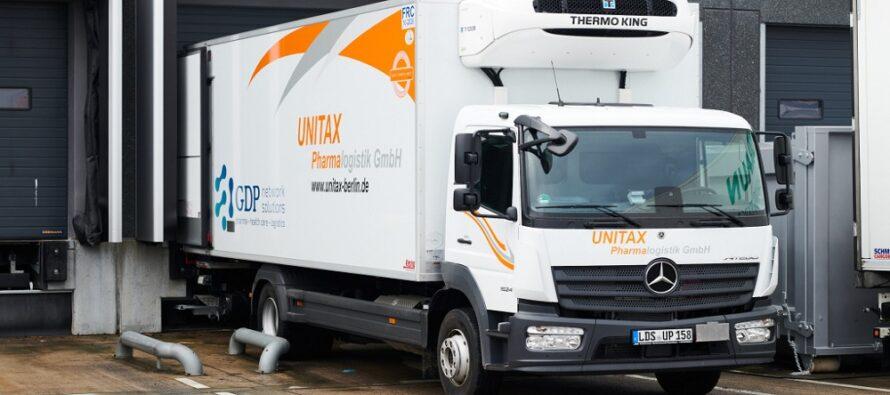 Τα φορτηγά που μεταφέρουν τα εμβόλια για τον κορωνοϊό