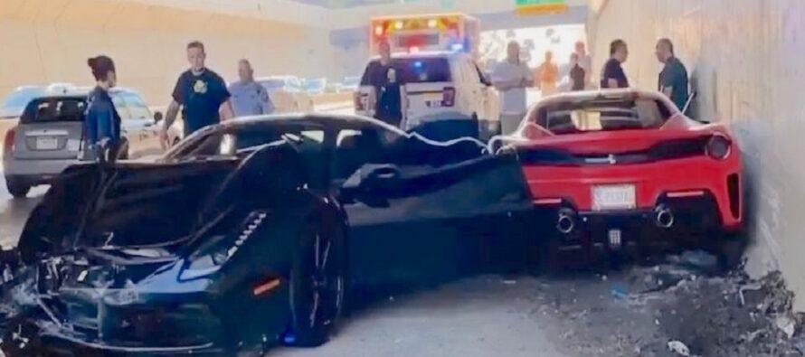 Μπελάδες για πλούσιους το τρακάρισμα τριών Ferrari! (video)